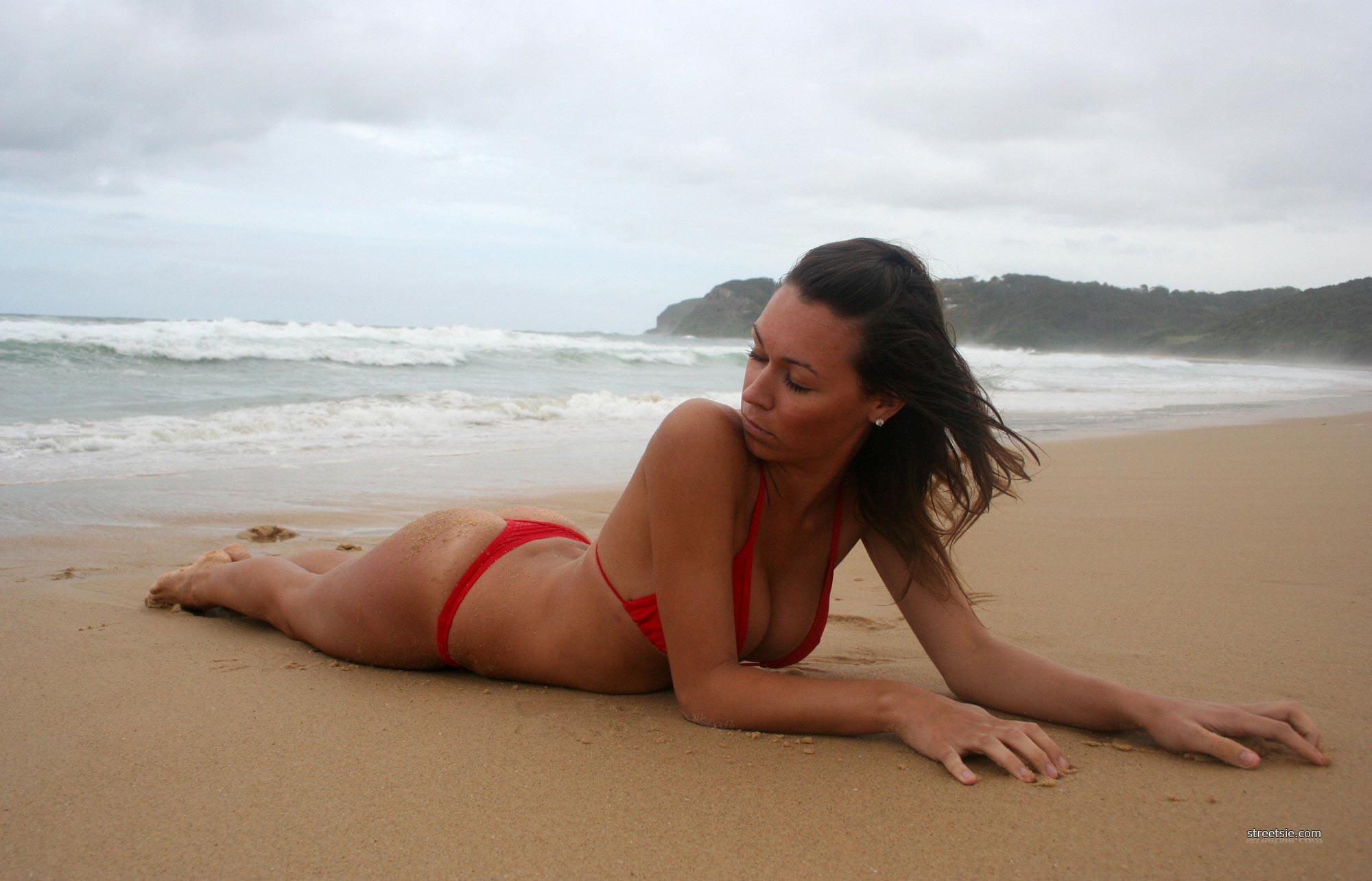 Australian bikini beach