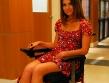 beautiful wheelchair babe alinne moraes red dress powerchair