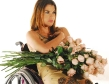 beautiful wheelchair woman alinne moraes a dozen roses