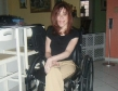 wheelchair babe with a cute smile