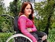 pretty in pink wheelchair babe lyzette