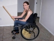 wheelchair babe riding broom