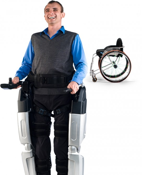 REX powered robotic exoskeleton designed specifically for wheelchair users