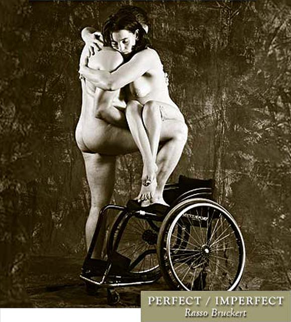 Naked wheelchair women