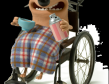 Peg the wheelchair hedgehog 3D model