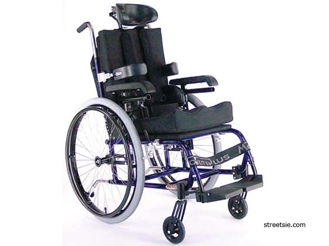 mobility plus high back wheelchair with lateral supports