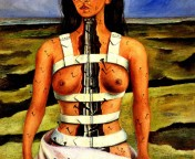 The Broken Column a painting by Frida Kahlo