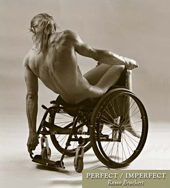 Perfect Imperfection Rasso Bruckert photograph of disabled man in wheelchair