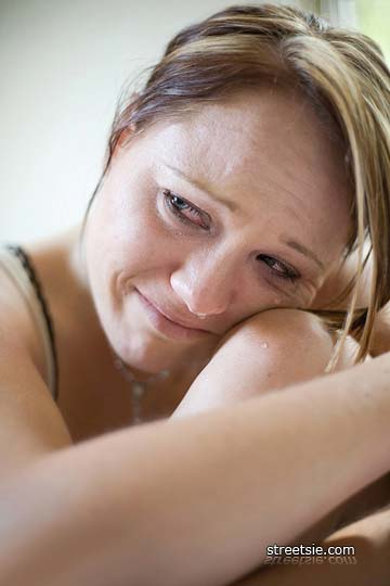 Depressed woman after spinal cord injury