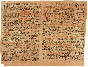 Ancient Egyptian Edwin Smith Papyrus
