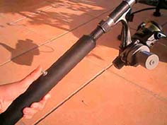 Battery powered disability fishing rod switch