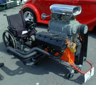 V8 364 Hemi powered wheelchair