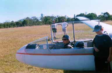 My friend Bill ready to go gliding