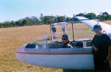 My friend Bill ready to go gliding