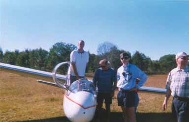 Me lifted into in the glider