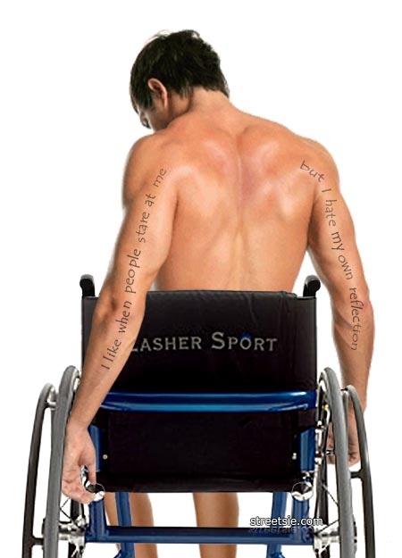 I like when people stare at me but I hate my own reflection spinal cord injury wheelchair secrets man back