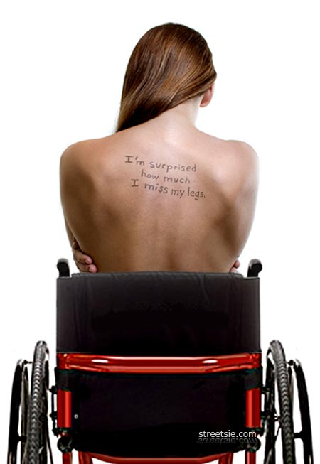 I'm surprised how much I miss my legs womans back wheelchair secret confessions