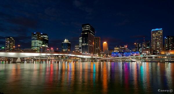 Conrad Treasury Casino riverside city lights