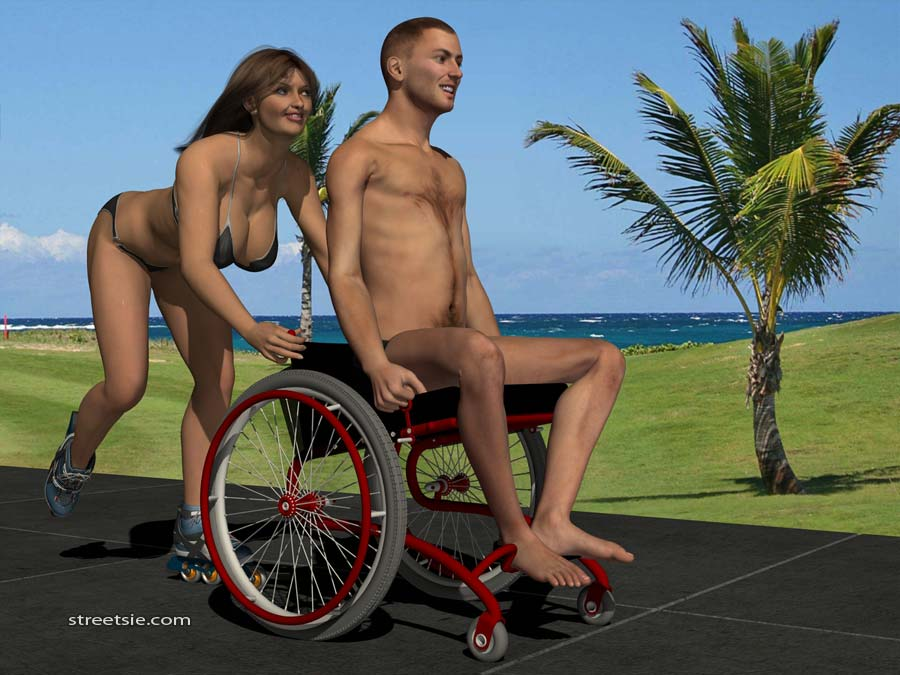 3D Wheelchair Art Modeling