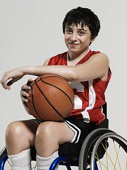 Basketball wheelchair adolescent