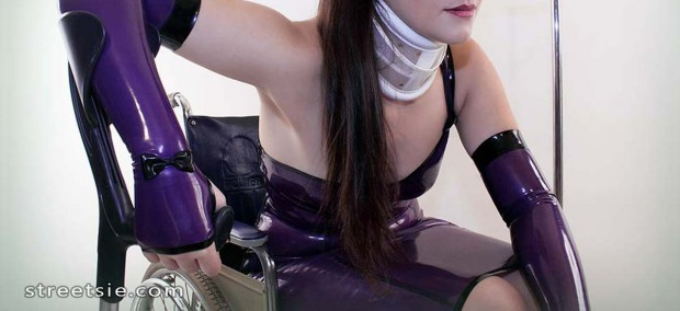 wheelchair disability fetish woman